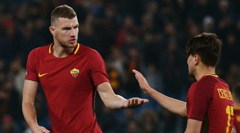 dzeko e under in roma benevento 5-2
